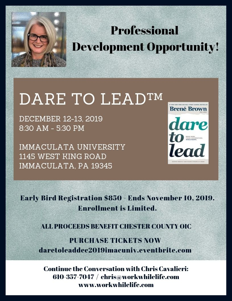 """Dare to Lead"" Workshop with Chris Cavalieri"