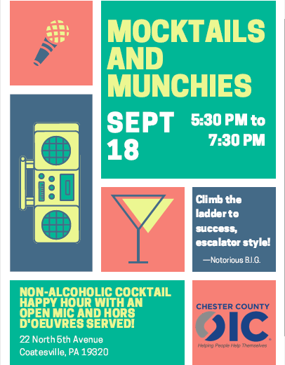 Mocktails & Munchies at CCOIC!