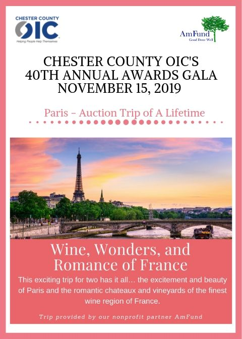 "40th Annual Gala ""Trips of a Lifetime"" Auction: Wine, Wonders, and Romance of France!"
