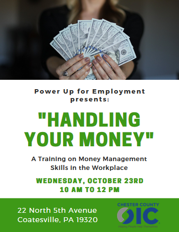"CCOIC's ""Power Up"" Series Presents Their Money Management Seminar!"