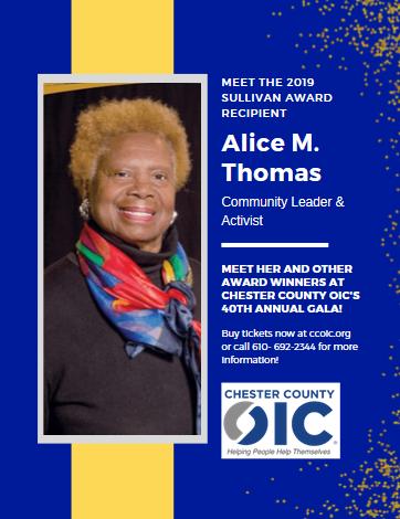 Meet the 2019 Leon H. Sullivan Award Winner: Alice M. Thomas!