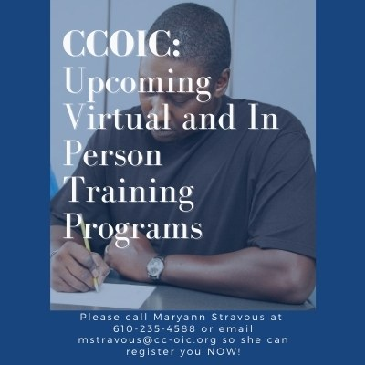 CCOIC: Upcoming Virtual and In Person Training Programs