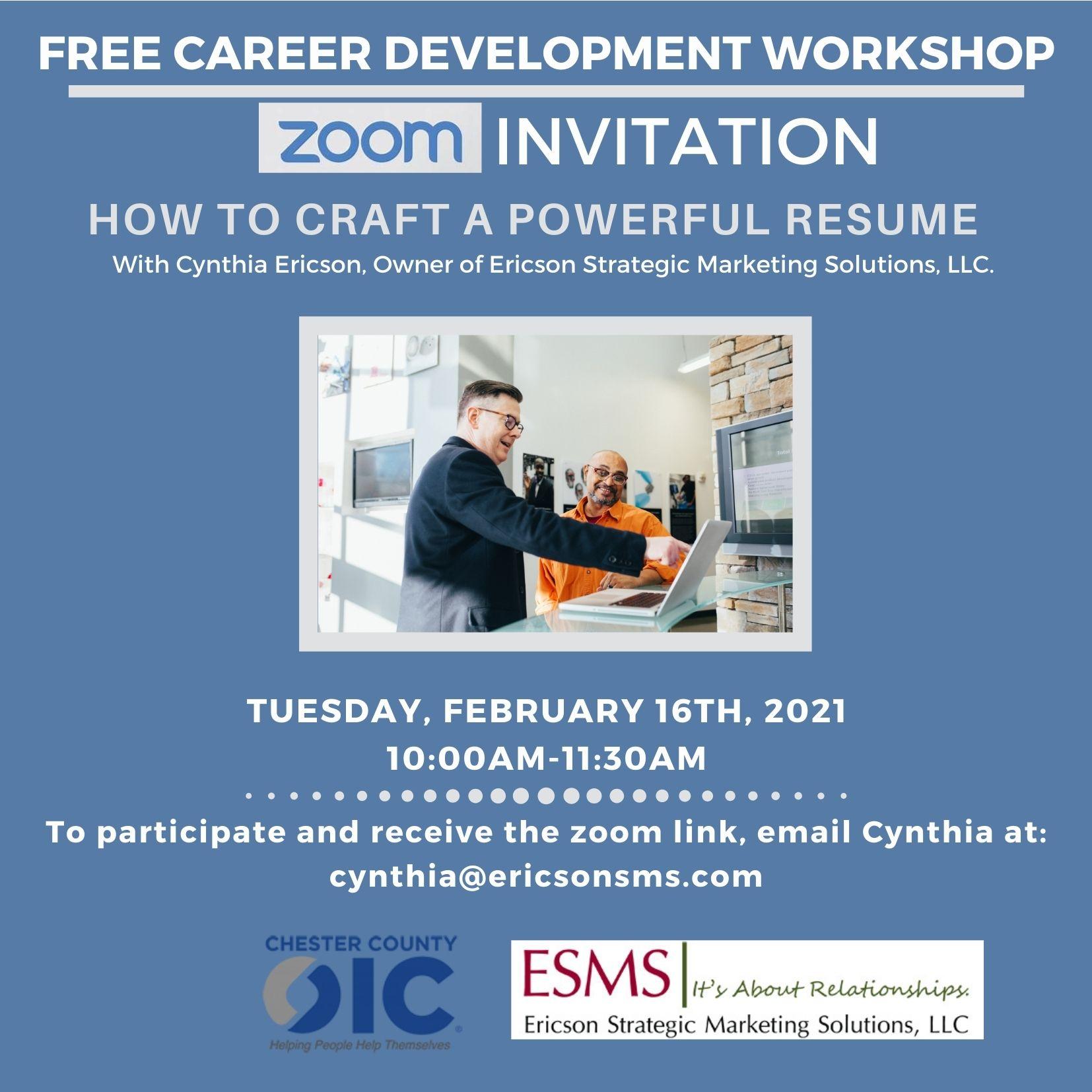 Free Career Development Workshops