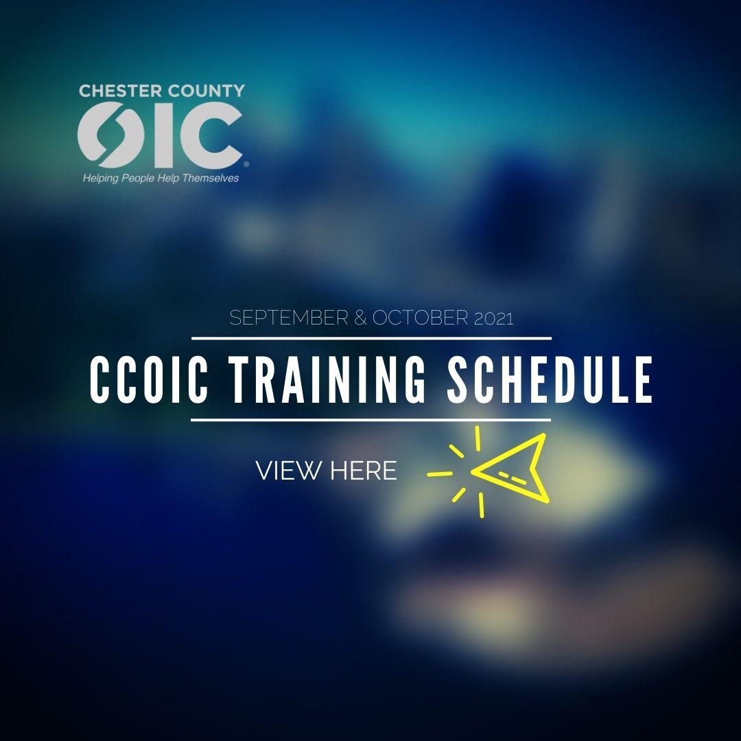 CCOIC Training Schedule