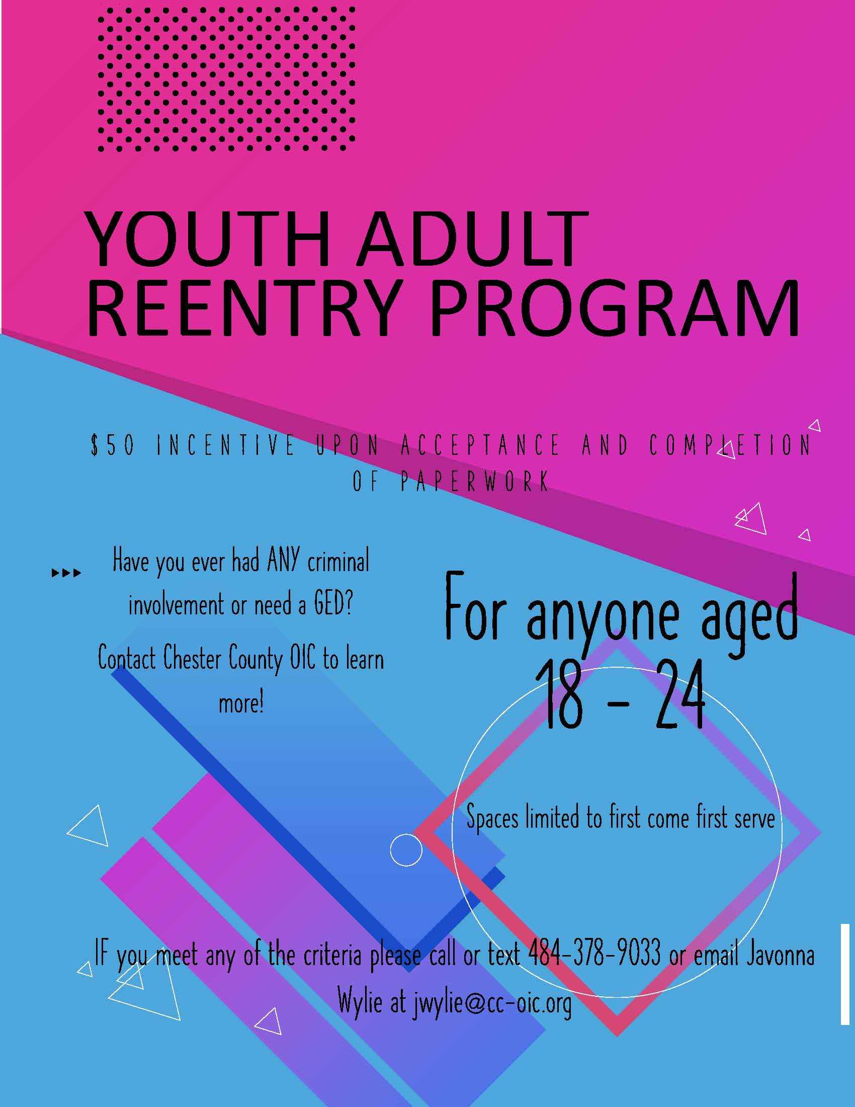 Youth/Adult Reentry Program